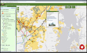 MDP's latest Models & Guidelines online features an interactive TOD profile mapping tool (M&G #30, Planning Tools for Transit Oriented Development)