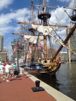 The Kalmar Nyckel, official tall ship of the state of Delaware.