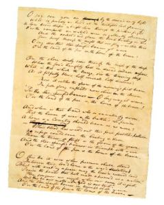 The Star Spangled Banner, 1814. Manuscript by Francis Scott Key, 54315. Image courtesy of the Maryland Historical Society