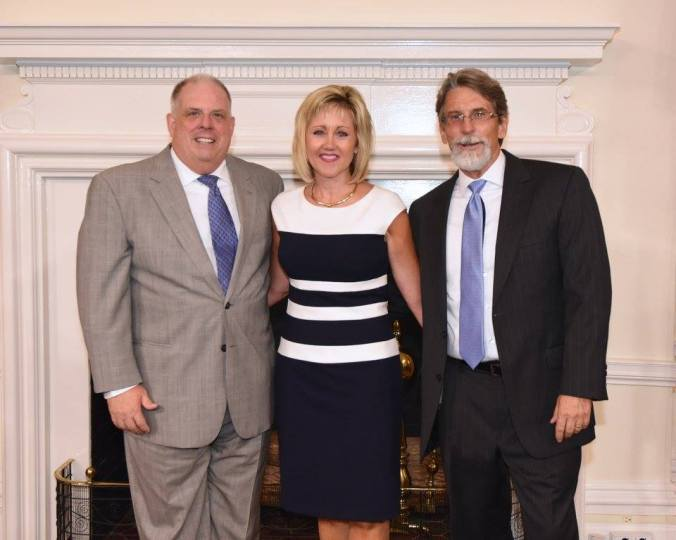 Governor Larry Hogan, Planning Secretary Wendi Peters, and Assistant Secretary Rob McCord