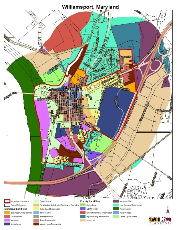 The Maryland Department of Planning Maps Land Use for the Town of