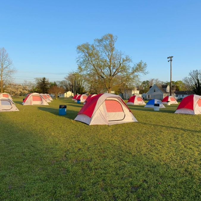 Camp Hope - photo source - Salisbury Independent